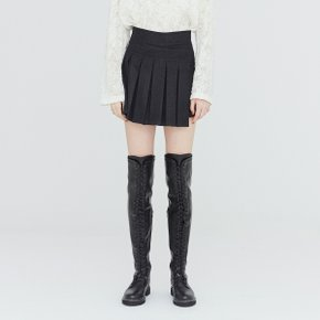 [가브리엘리] 19FW PLEATED MINI SKORT - DARK GREY MELANGE