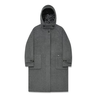 KIRSH HOOD WOOL LONG COAT AAKC01