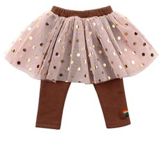 Baby gold dot tutu leggings / BP6411221