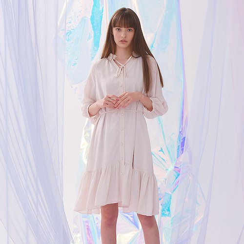 [40%할인적용가]Faint Dress - Beige