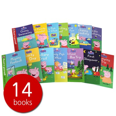 페파피그 Peppa Pig Read it Yourself 14 Books Set Lvl 1& 2