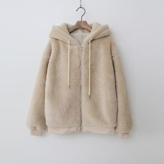 Teddy Bear Hood Bomber Jumper