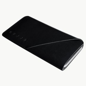 Leather Wallet Sleeve for iPhone 8/7 BLACK