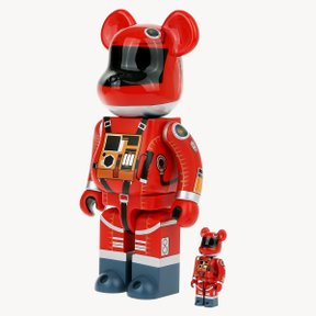 400+100% BEARBRICK SPACE SUIT ORANGE VER