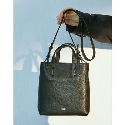 [헤지스ACC] HSD [19SS] BLACK LEATHER MINI TOTE HABA9E227BK