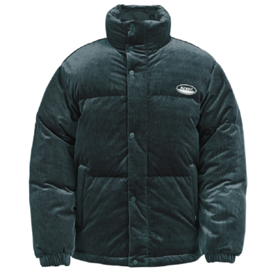 Corduroy Velvet Down Jacket Dark Grey