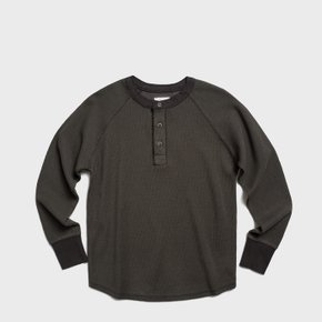 [시즌 오프] [남녀공용] C 2017 Danboru Henley Neck Shirts U Brown
