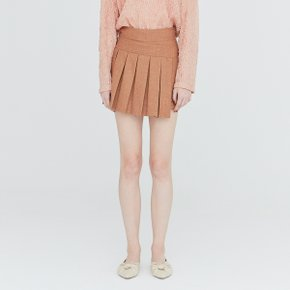 [가브리엘리] 19FW PLEATED MINI SKORT - TAN MELANGE