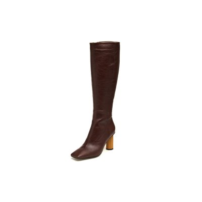 [파주점] Square toe slim boots(brown) (DG3BW18502BRN)