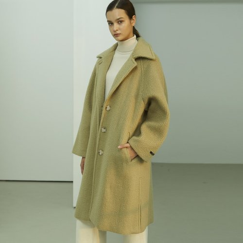 ★SSG특별혜택가★[룩캐스트] LIGHT OLIVE BRUSHED SINGLE WOOL COAT (3524597)