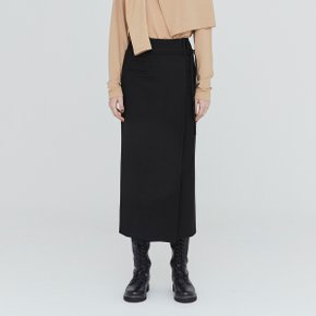 [가브리엘리] 19FW POCKET DETAIL LONG SKIRT - BLACK