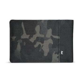 TRAVEL WALLET BLACK CAMO
