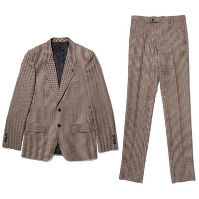 block check wool suit _CWFBW18658BEX_CWFCW18658BEX