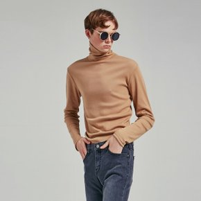 SLIM SIMPLE TURTLENECK T_BEIGE (1815209)