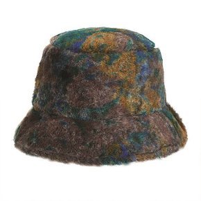 [12/23 예약배송] [써틴먼스] PATTERNED FUR BUCKET HAT (BROWN) (5993996)