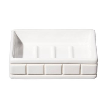 CERAMIC BATH ENSEMBLE SOAP DISH