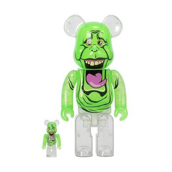 400%+100% BEARBRICK SLIMER (GREEN GHOST)