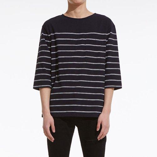 PLAC Uni Stripe Over Fit T-Shirts NV (PWOG1RLRA5U0B7) 7ee3f4020c242