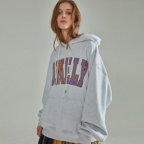 [NOHANT] LONELY/LOVELY HOODIE LIGHT GRAY