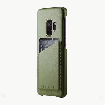 Full Leather Wallet Case for Galaxy S9 OLIVE