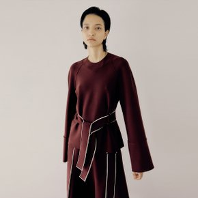Pollar Belt Top_Burgundy