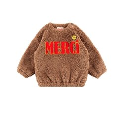Merci baby boa fur sweatshirts
