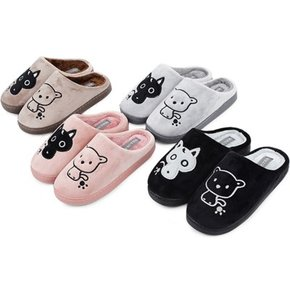 kami et muse Cute embroidery fur slippers _KM18w135