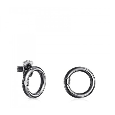 [최초출시가 105,000원]Small Dark Silver Hold Earrings/귀걸이/812343510