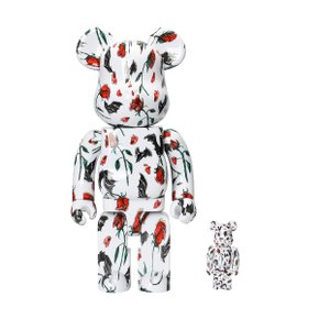 400%+100%BEARBRICK KIDILL × ERI WAKIYAMA BAT & ROSE WHITE