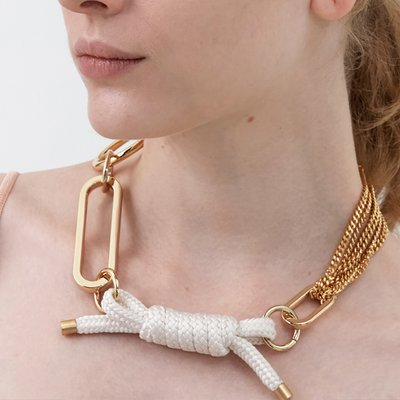 Big Shape Bold Chain and Rope Necklace
