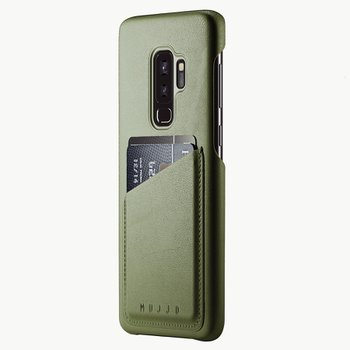 Full Leather Wallet Case for Galaxy S9+ OLIVE