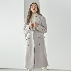 HERRINGBONE DOUBLE LONG COAT_LIGHT BEIGE (3828762)