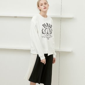 embroidered detail sweat shirt White