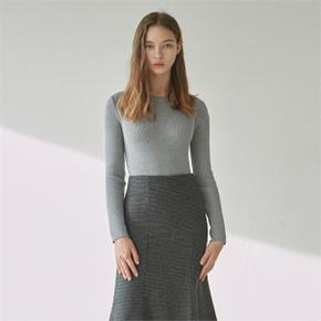 SLIM ROUND LONG KNIT_GRAY (4121602)