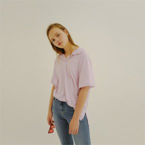 [ROSIER] 18ss collar T-shirt lavender (1896068)