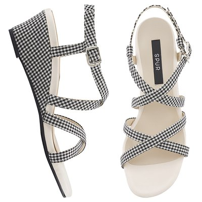 웨지샌들 OS7071 Double cross strap wedge 블랙