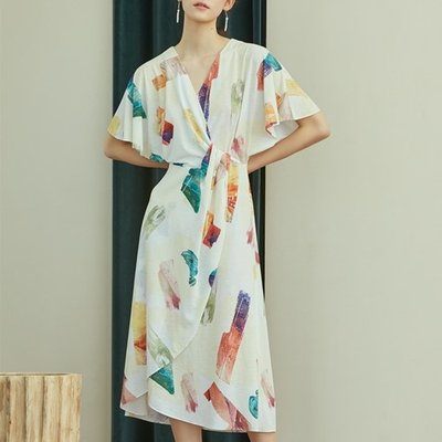 [블리다] color brush wrap dress (1867385)