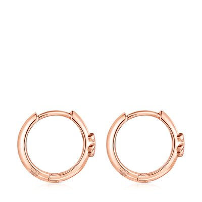 [최초출시가 83,000원]Rose Silver Vermeil TOUS Basics bear Hoop earrings/귀걸이/011183550