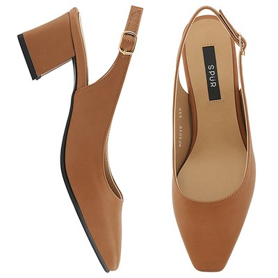 슬링백할인  MF9035 Slim square slingback 카멜