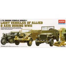 [ACA0013416] 1/72 GROUND VEHICLE SERIES-1 LIGHT VEHICLES OF ALLIED&AXIS DURING WWII 2차 세계대전차량세트
