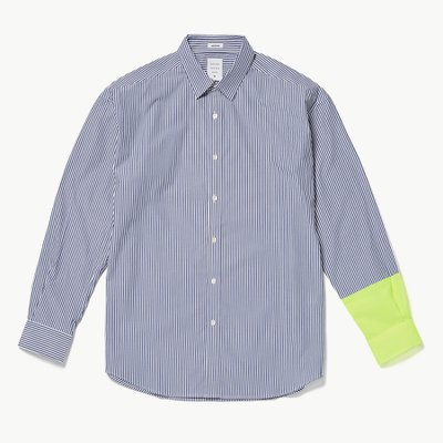 NEON COLOR SLEEVED MODERN SHIRT STRIPE