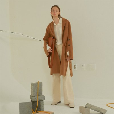 [MUSEE]Camille  Handmade Sleeve pointed coat _ Camel (1941011)