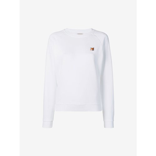 [PRE-ORDER] 20SS SWEATSHIRT FOX HEAD PATCH WHITE WOMEN AW00303KM0001