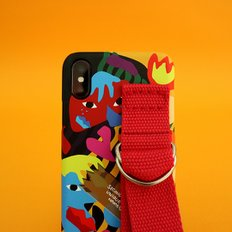 SUN CASE GRAPHIC HUMAN ORANGE RED(CARD)