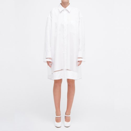 [MAISON MARGIELA/메종마르지엘라] TWO LAYERD SHIRT DRESS WHITE S29CT0972 S49925 100