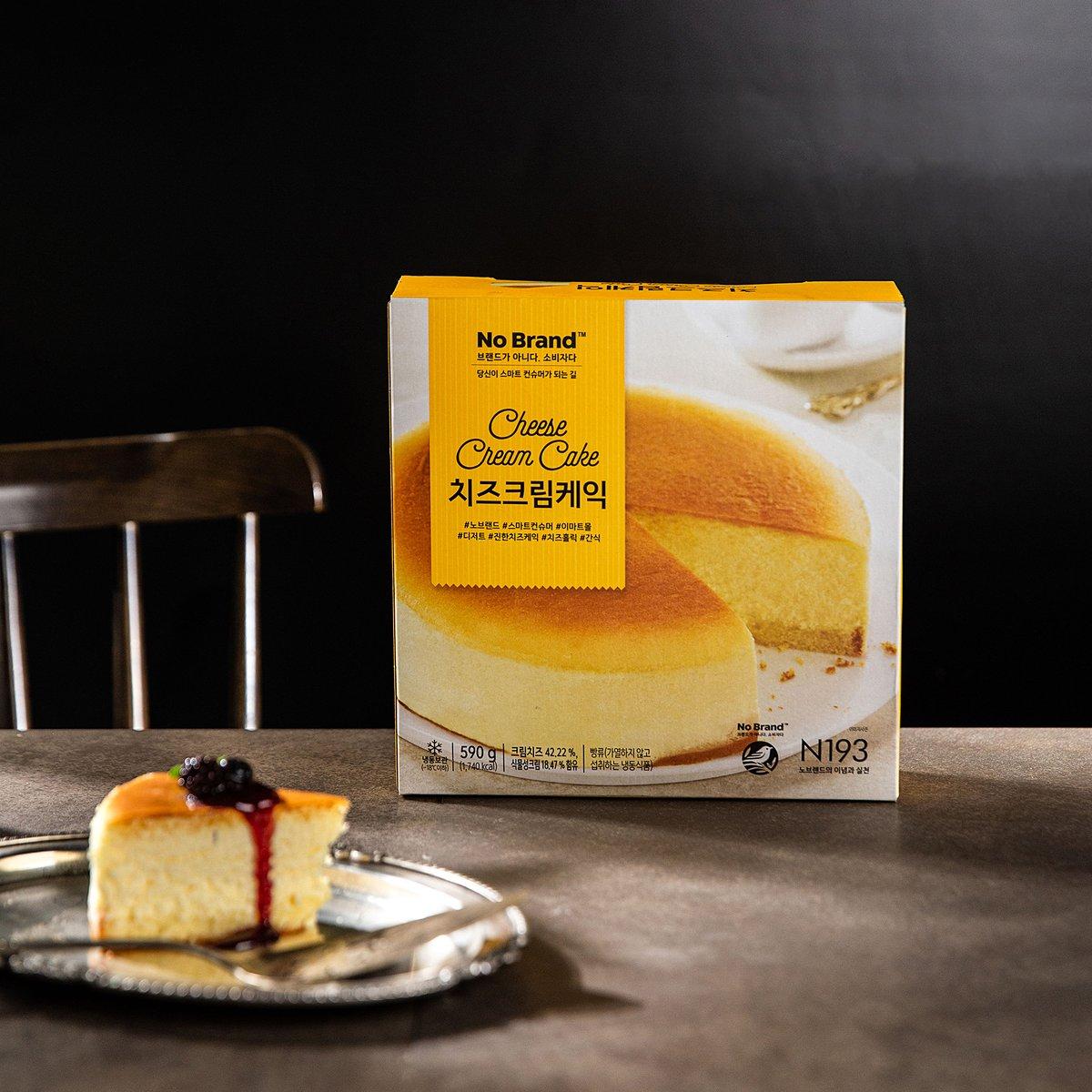 [노브랜드] 치즈 크림 케익 590g