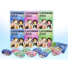 Listening Juice for Kids Pack (Student Book:3+ WorkBook:3+CD:3)