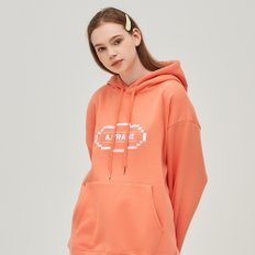 CIRCLE GRAPHIC HOODIE (LIVING CORAL)