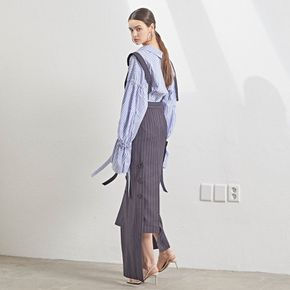 Unbalance hem stripe dress