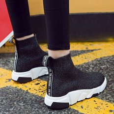 kami et muse 3.5cm tall up knit socks sneakers _KM18w284